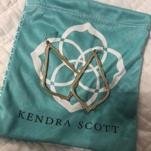 """Kendra Scott gold """"hoop"""" earrings"""